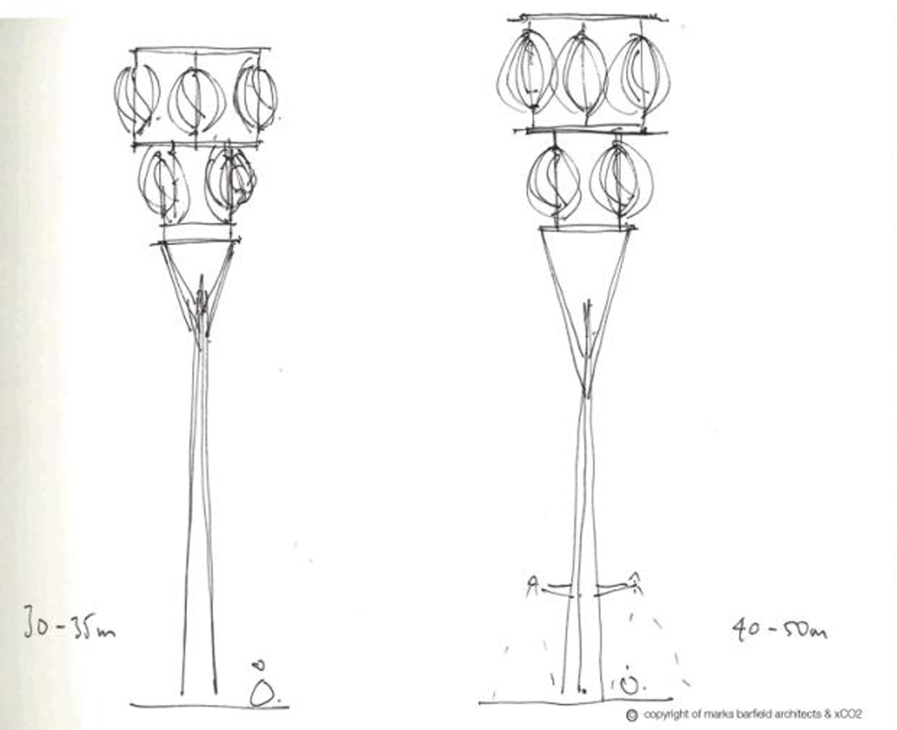 Beacon Sketch by Marks Barfield Architects
