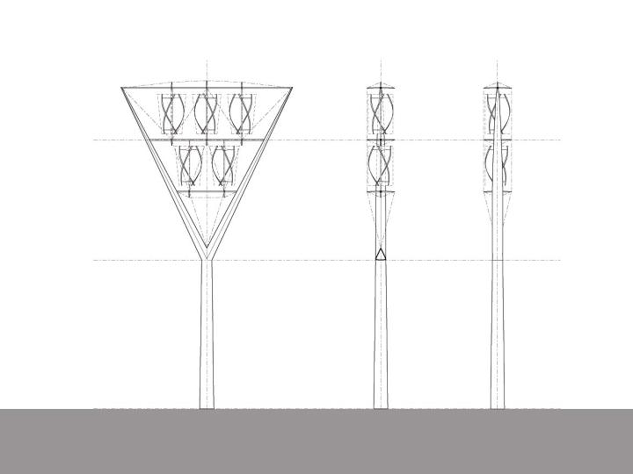 Beacon Elevation Diagrams by Marks Barfield Architects