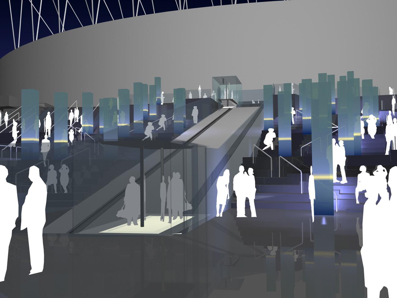 Lighting Design Concept Wembley Olympic Steps