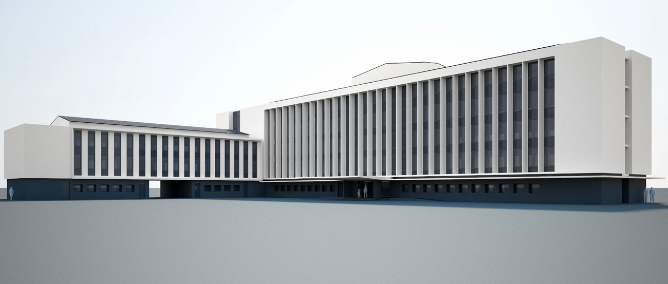 British High Commission 3d Model by Marks Barfield Architects