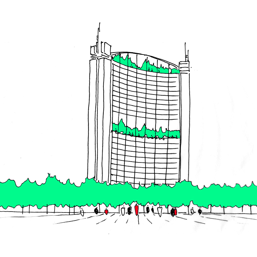 empress state sketch by Marks Barfield Architects