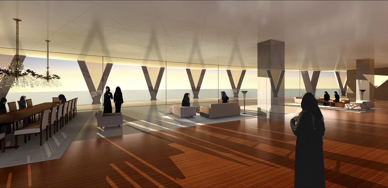Jeddah Tower Residences Interior View by Marks Barfield Architects