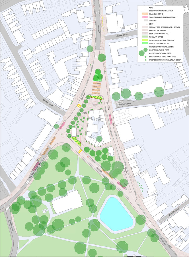 Clapham Gateway Public Realm Plan by Marks Barfield Architects