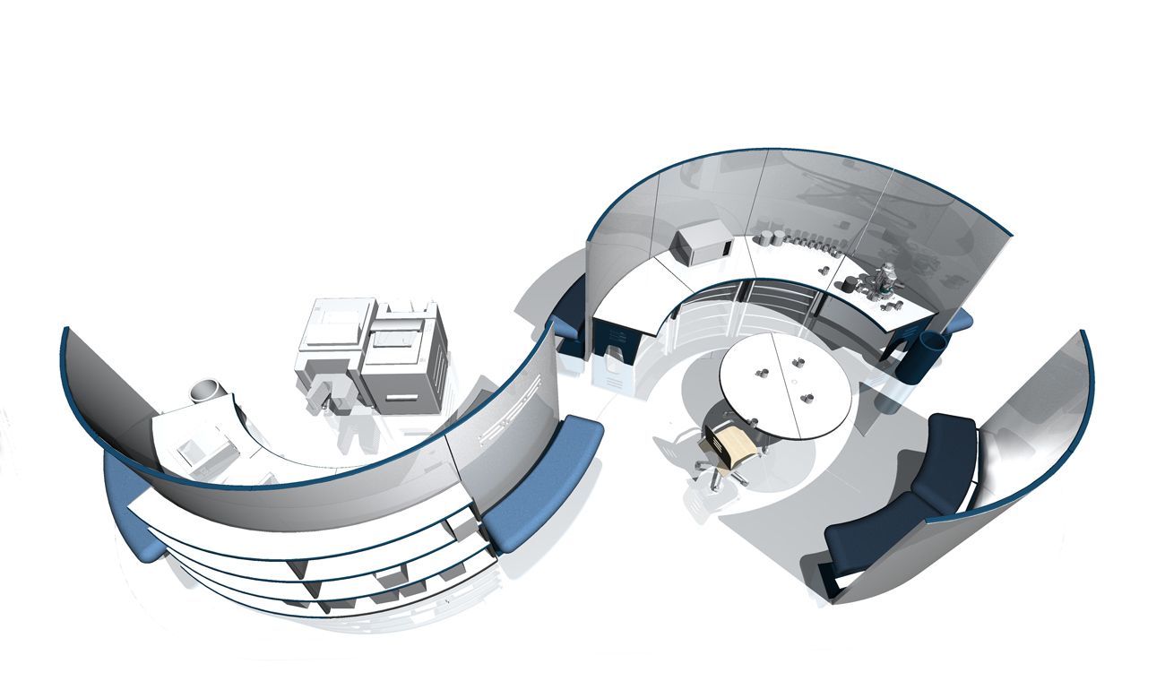 Spaceoasis resource pod aerial by Marks Barfield Architects
