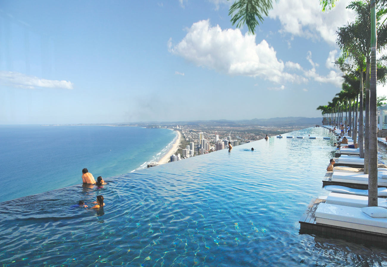 Gold Coast Mixed Use Development Rooftop Swimming Pool by Marks Barfield Architects