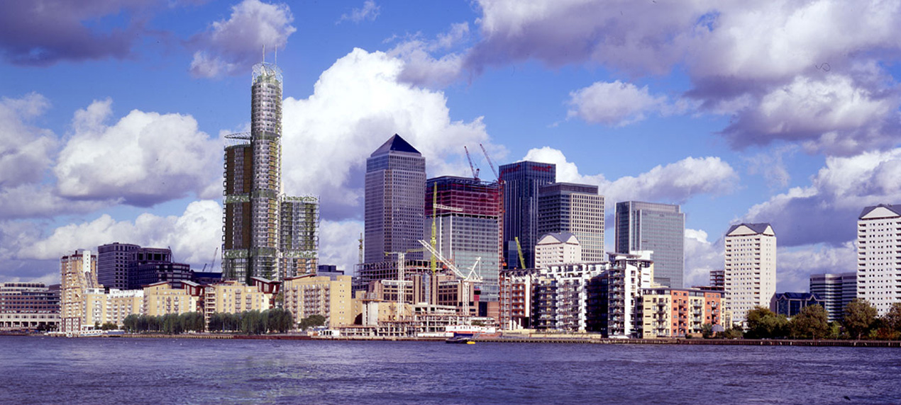 Skyhouse Canary Wharf View by Marks Barfield Architects