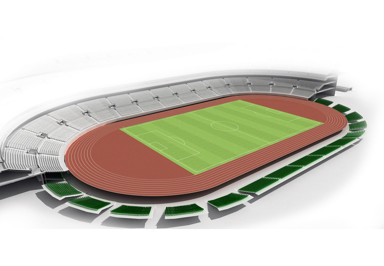retractable seats stadium - King Abdullah Sports Oasis by Marks Barfield Architects