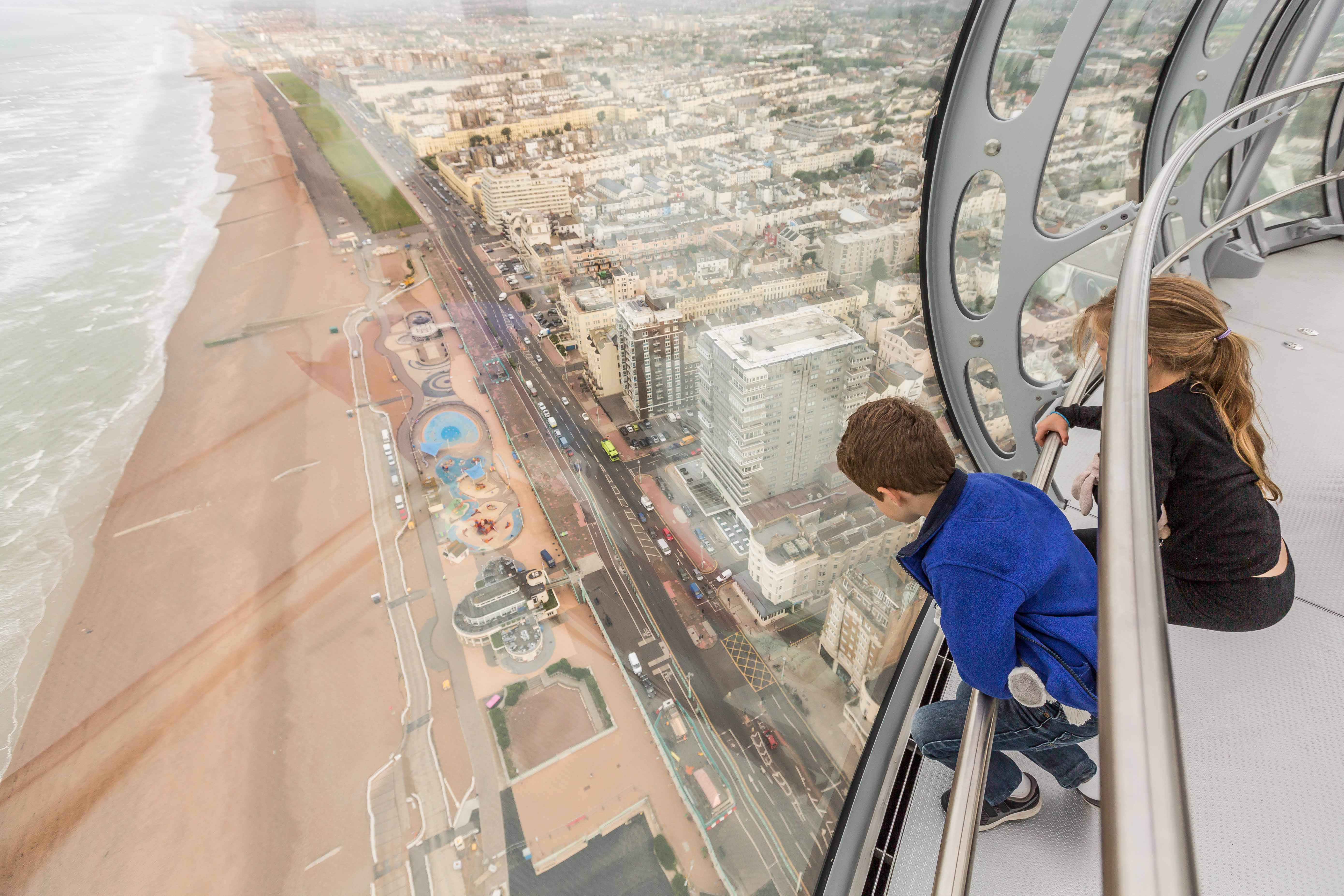 Brighton i360 kids pod view Marks Barfield Architects