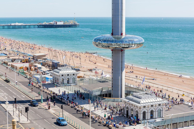 Brighton i360 podium view Marks Barfield Architects