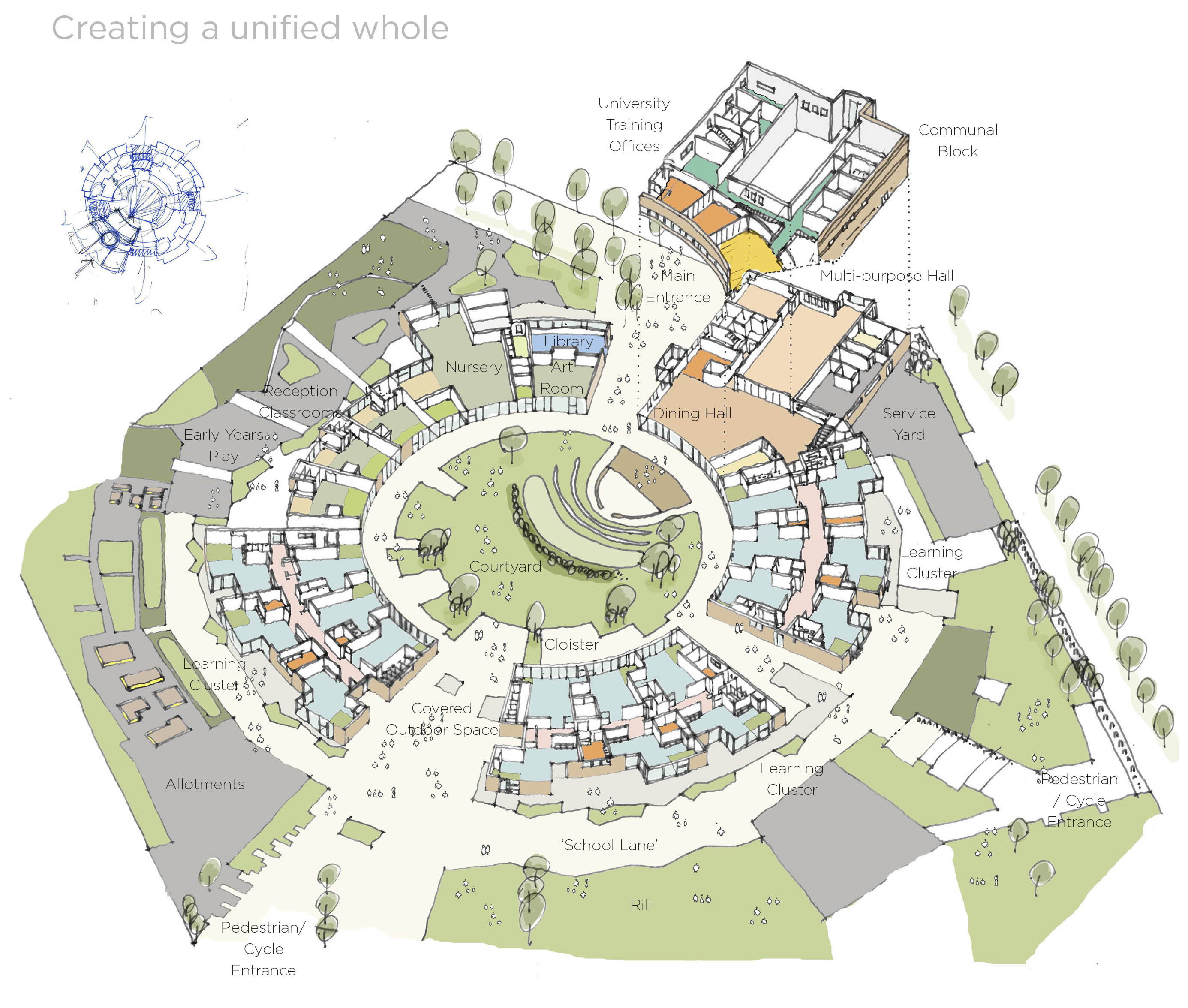 University of Cambridge Primary School Unified Whole by Marks Barfield Architects