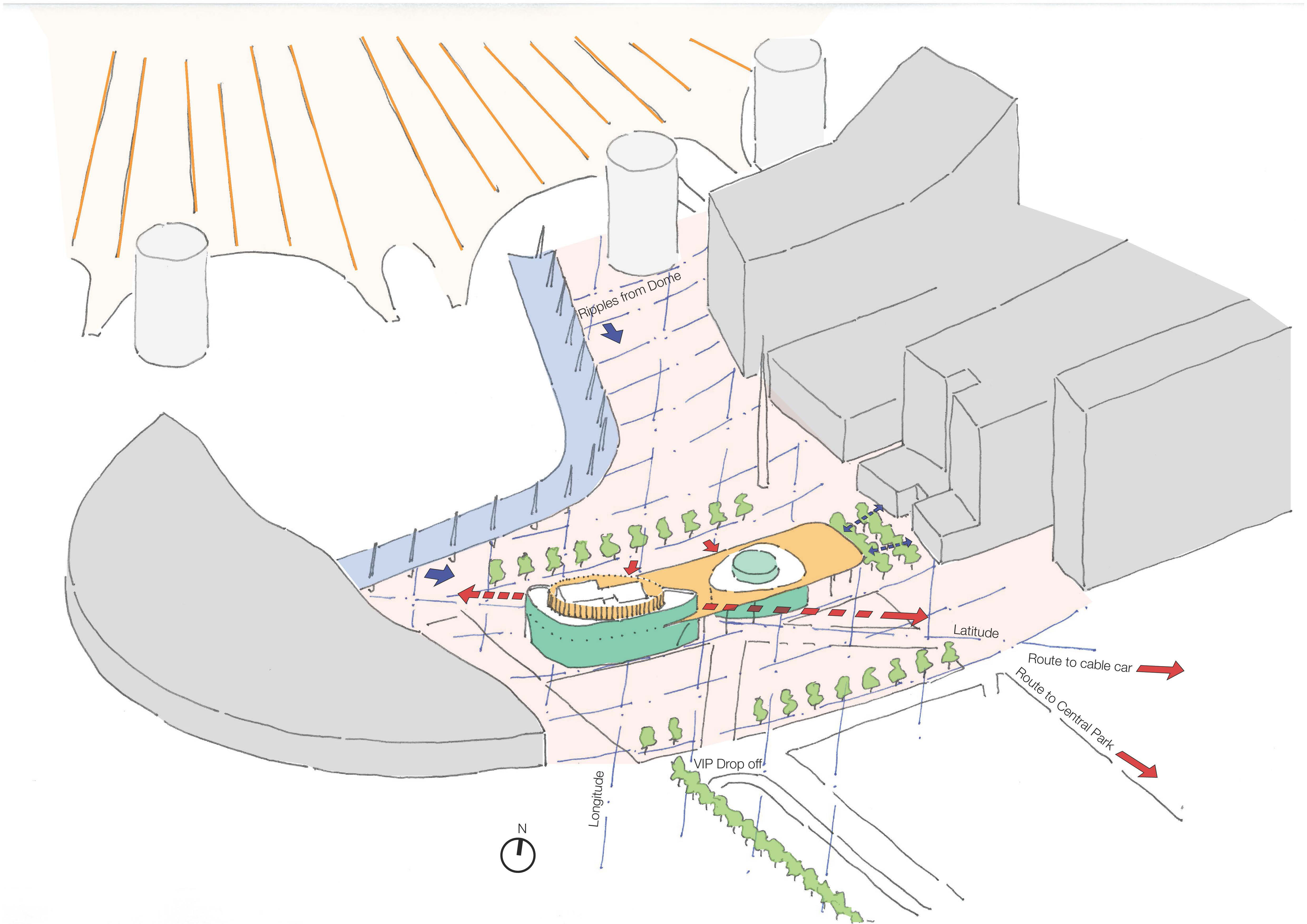 Greenwich Gateway Pavilions Site Analysis, Marks Barfield Architects