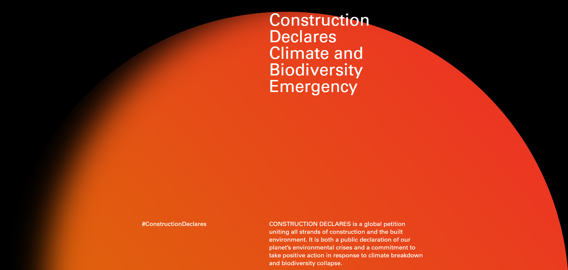 Construction Declares Climate and Biodiversity Emergency