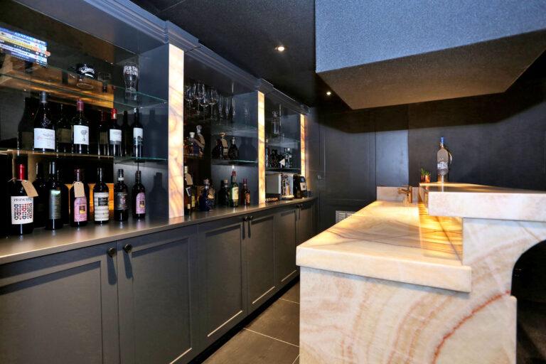 Bar shelving and cabinets
