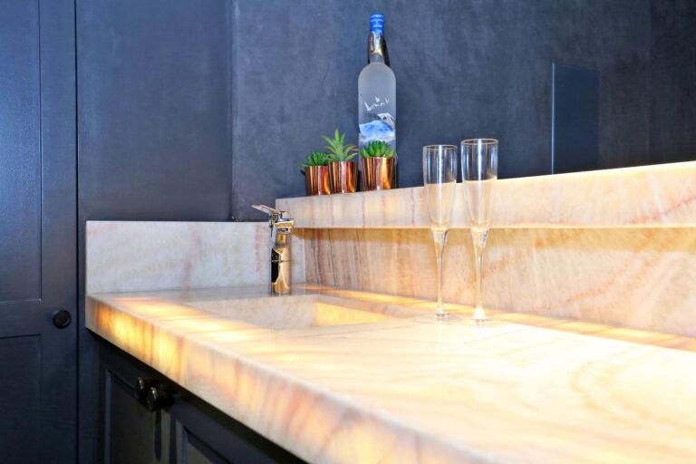 Bar marble counter