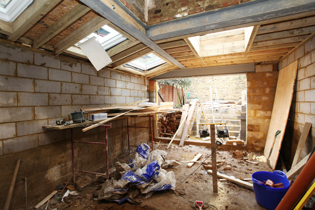 Kitchen extension before