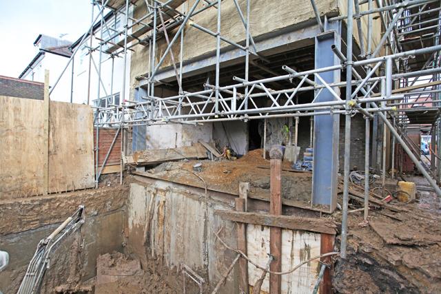 Basement under construction