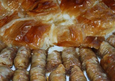 Desserts: Baklavaki and bougatsa