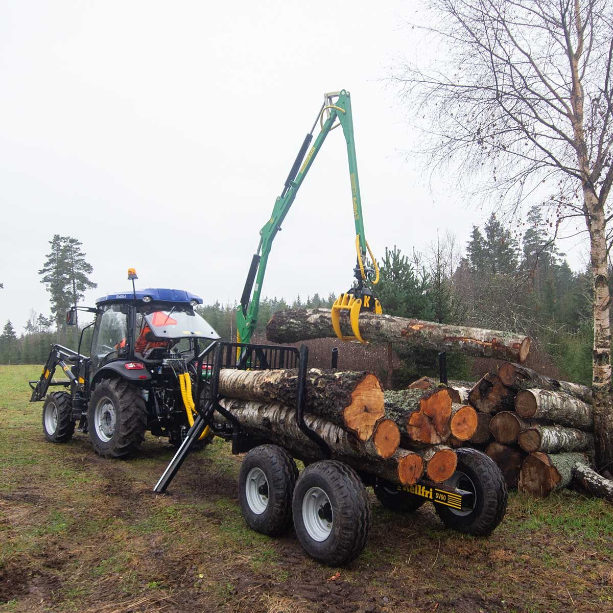 6T Forestry Trailer and CraneLearn More