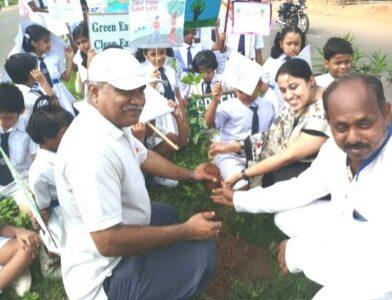 Students & staff planting trees