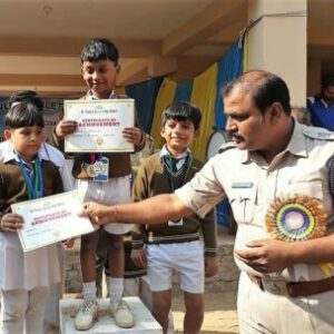 Students felicitated by Police Head