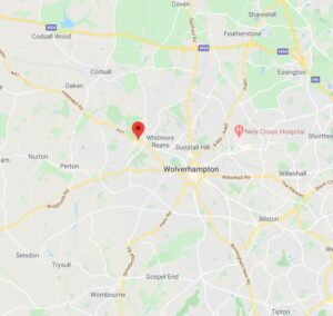 Map of the upvc door lock repair in Wolverhampton
