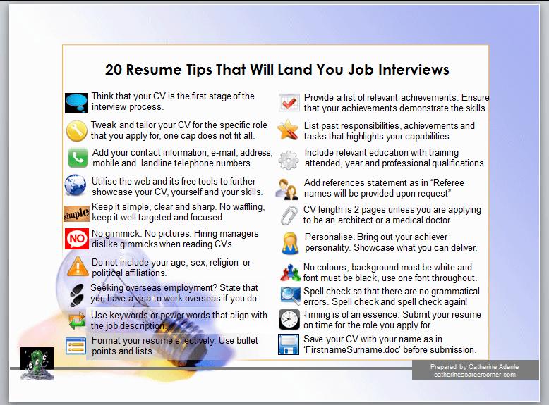Want an effective CV?