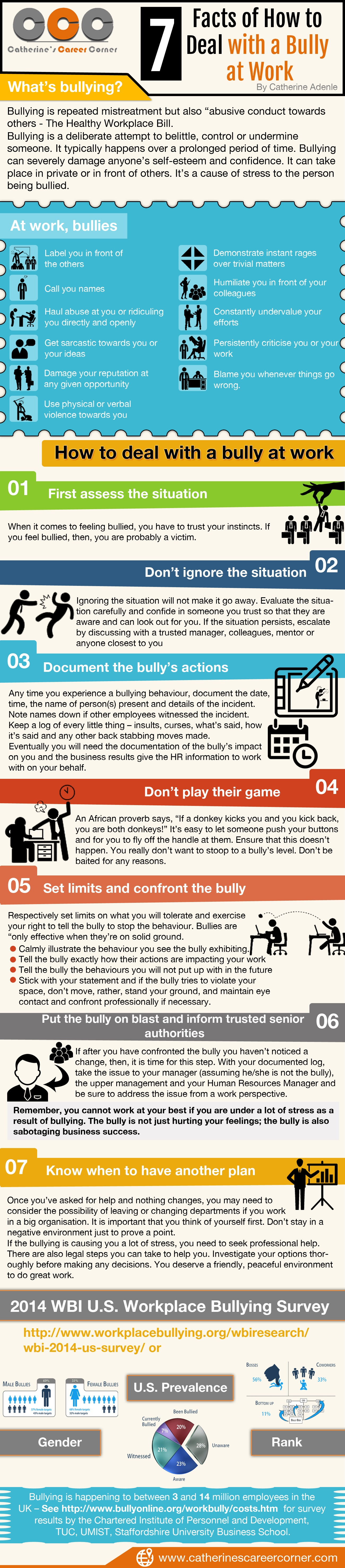 Tips on How to Deal with a Bully at Work - Infographic