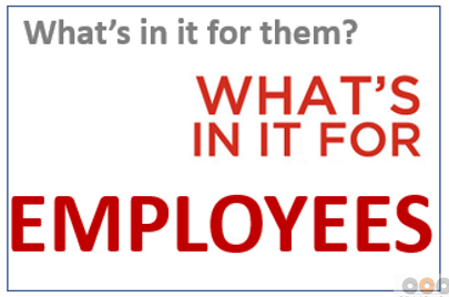 What is in the change for employees?