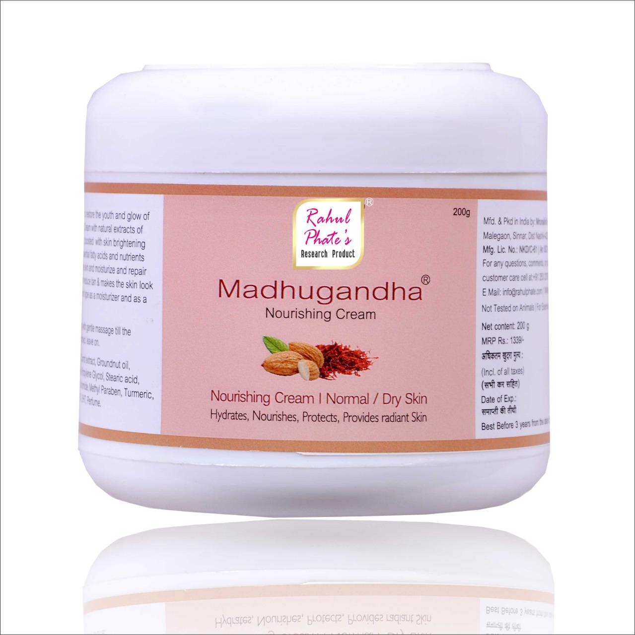 Rahul Phate Madhugandha Nourishing Cream 200g