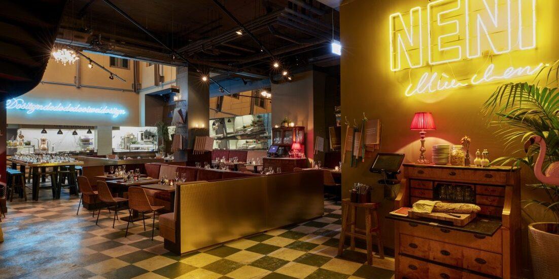 "25hours Hotel - Eingang zum Restaurant ""Neni"""