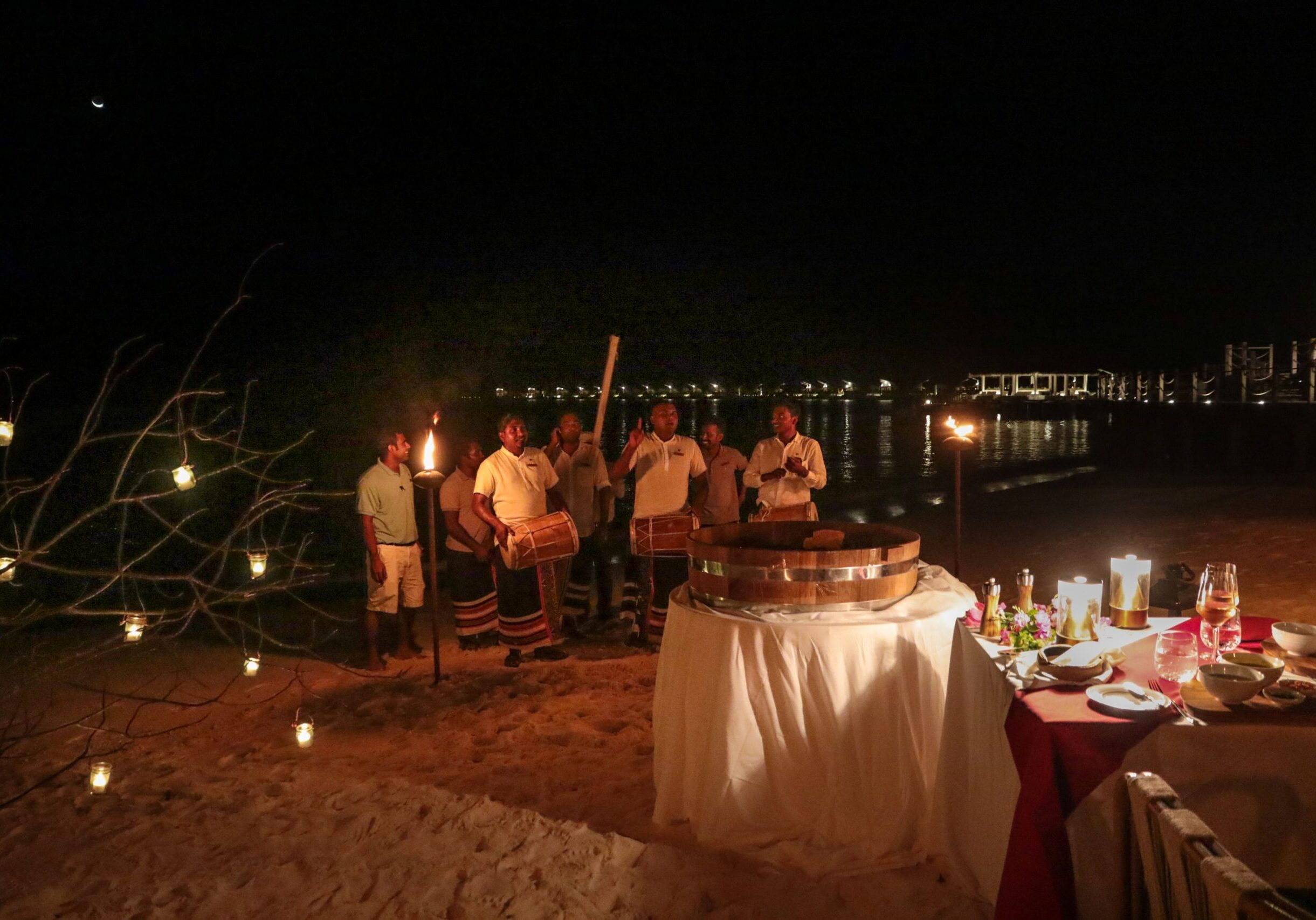 JW Marriott Maldives Strand Dinner