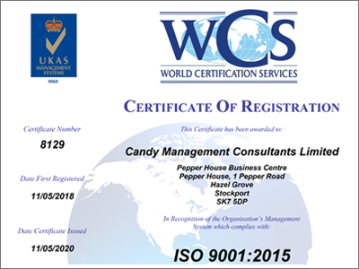 Candy Management ISO 9001 Certificate