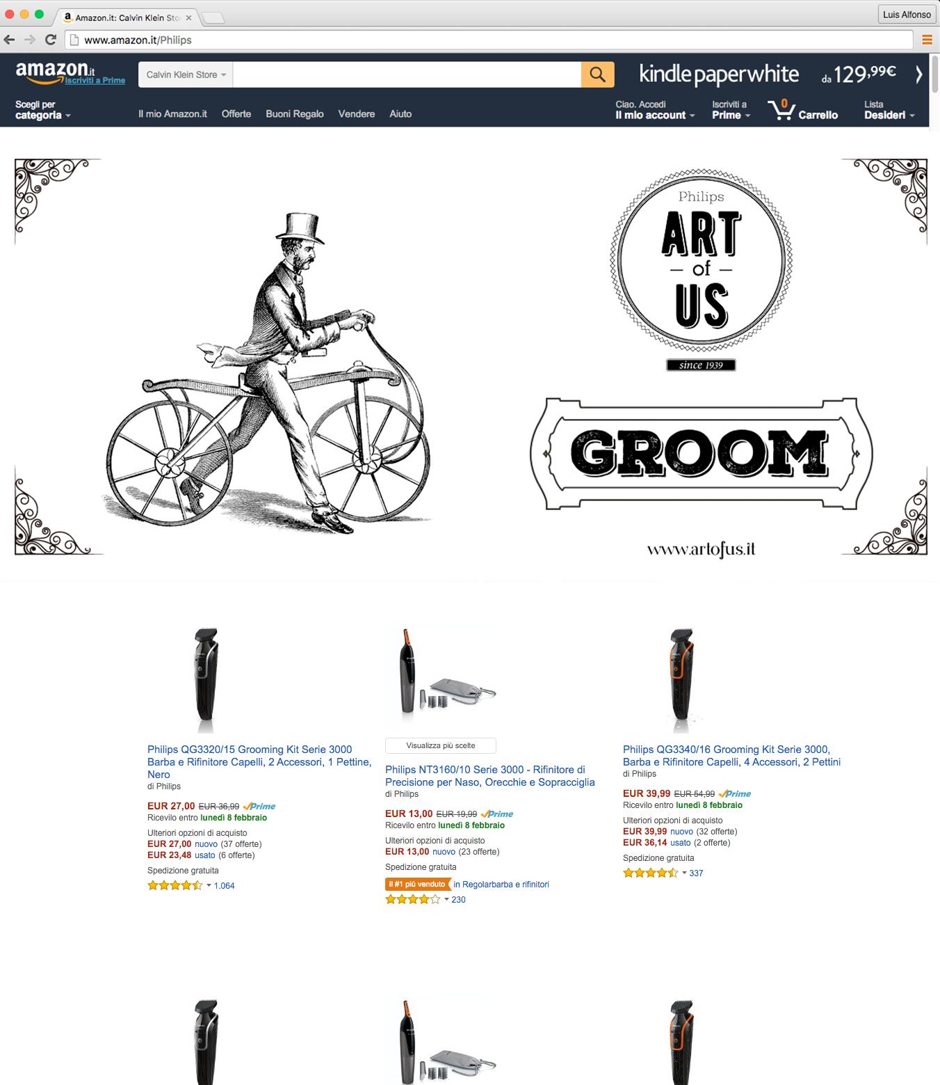 Amazon Landing Groom