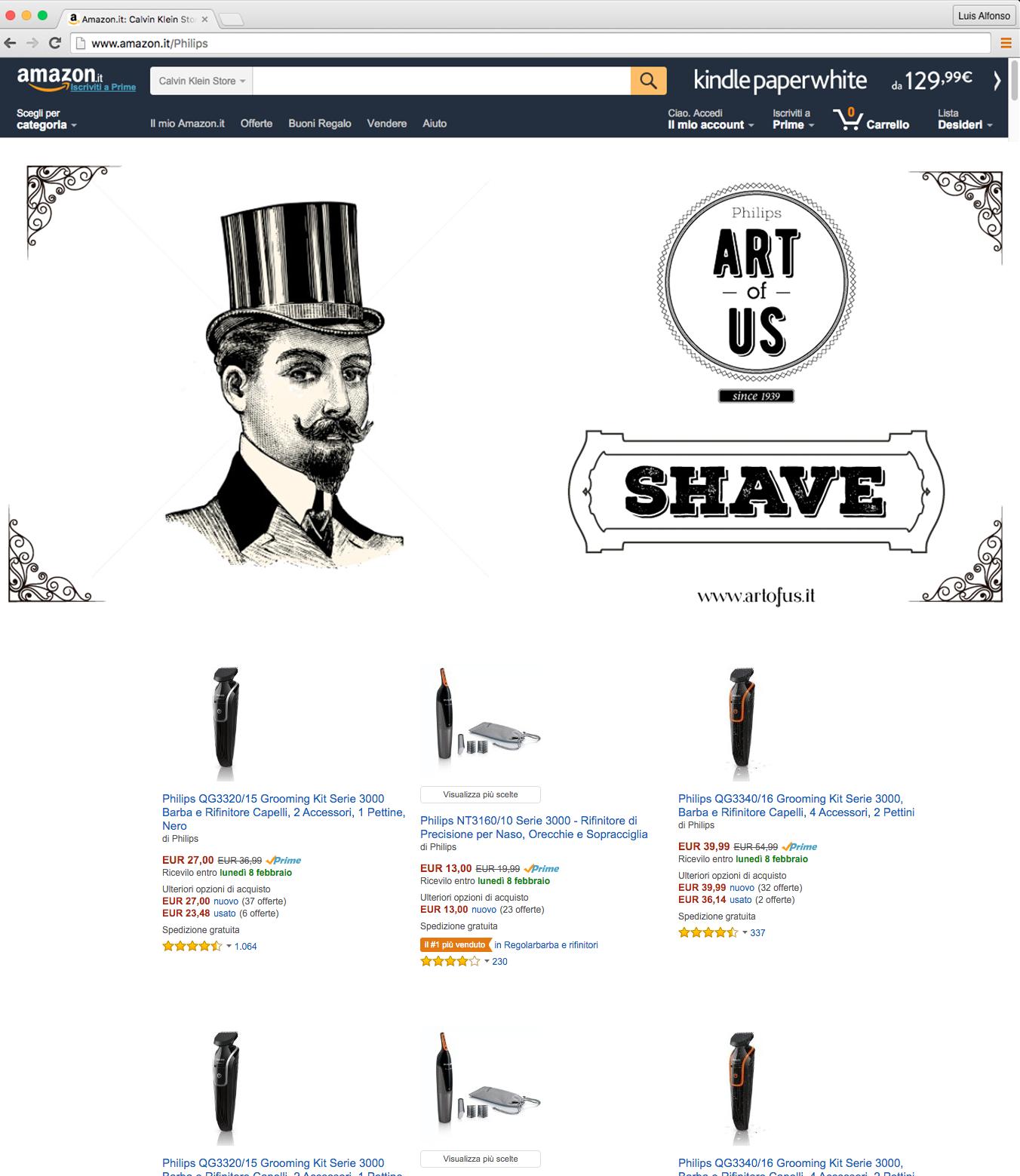 Landing Shave Amazon