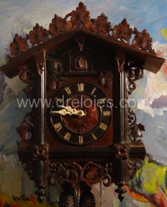 Restauración de un reloj de cuco antiguo