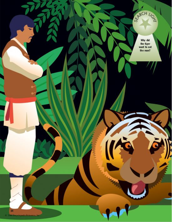 the woodcutter and the tiger