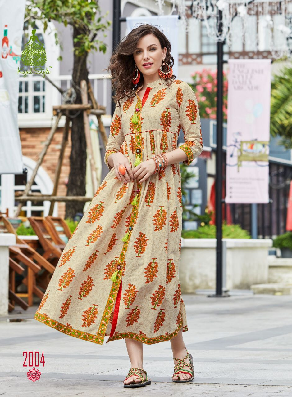 Latest Designer Anarkali Style Long Kurti