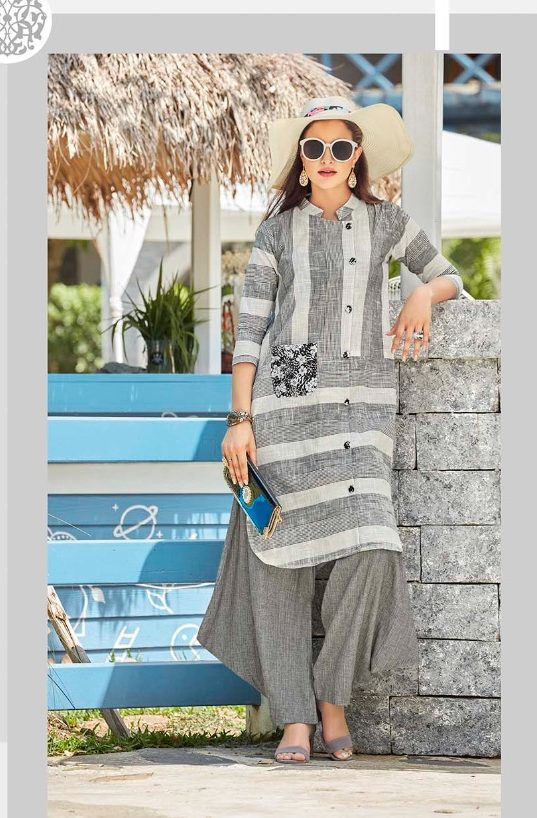 New Style Designer Kurti in Slate Colour