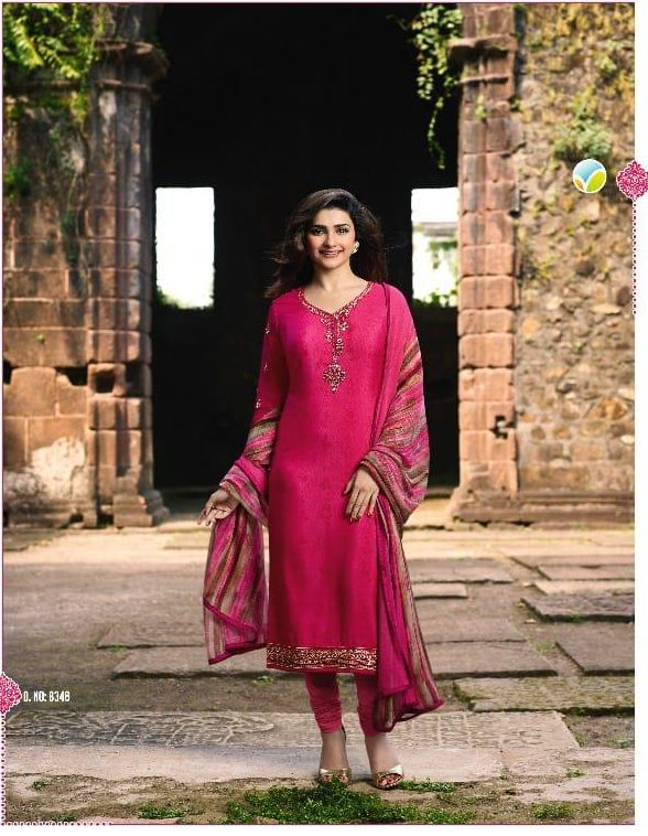 New Fancy Heavy Designer Printed Salwar Suits In Ruby Colour