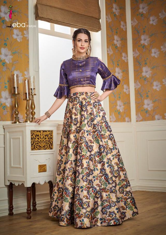 Latest Wedding Wear Top with Skirt
