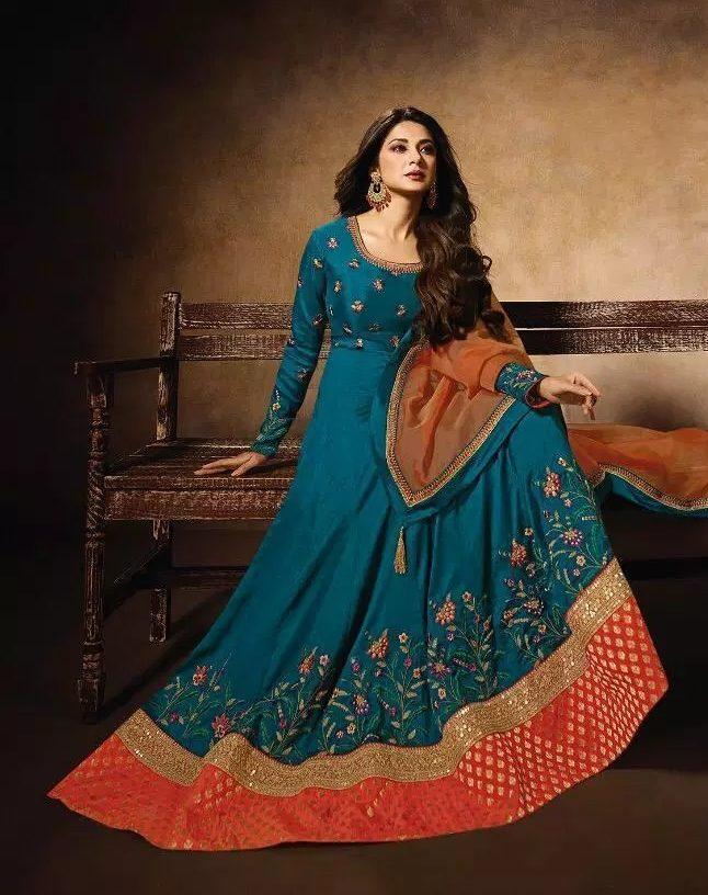 Zoya Style Wedding Party Wear Shahi Designer Gown