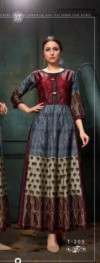 New Fancy Pragya Style Designer Kurti in Slate Colour