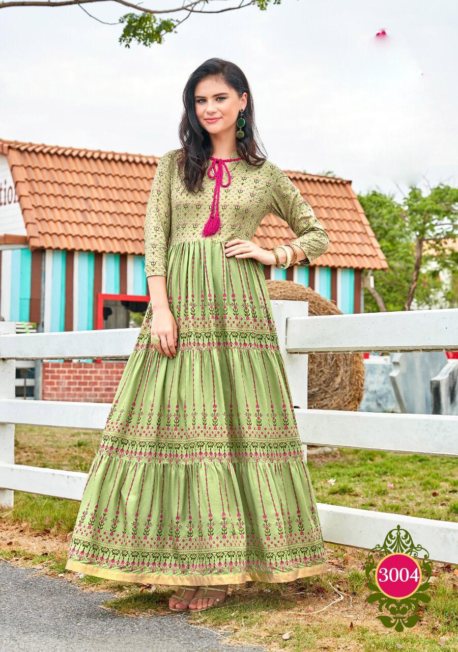New Fashion Stylish Long Kurta Light Green Colour
