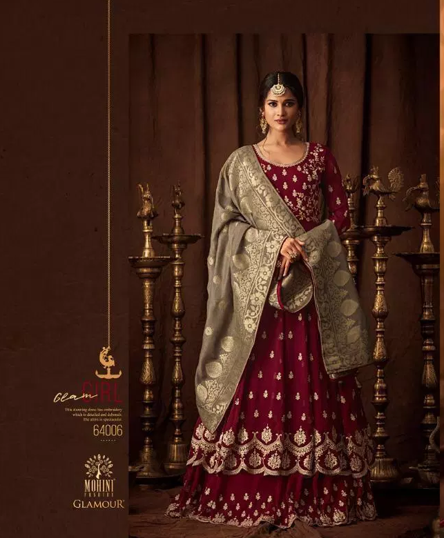 Eid Collection Heavy Embroidered Gown with Heavy Dupatta