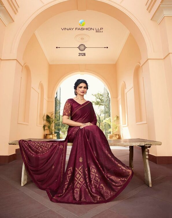 Prachi Desai Maroon Colour Saree