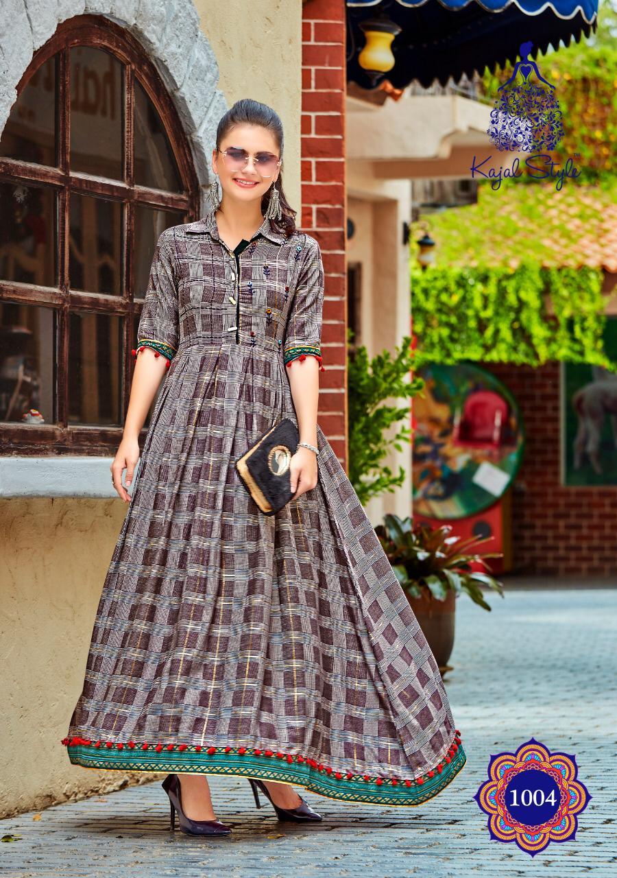 New Life style SHAHi Collection Brown colour long Kurta