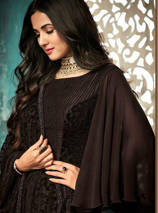 Chocolate Colour Bahu Begum Dresses