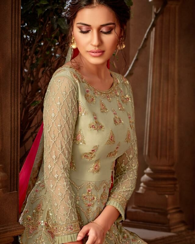 Pictures of Designer Suits Gharara with Price