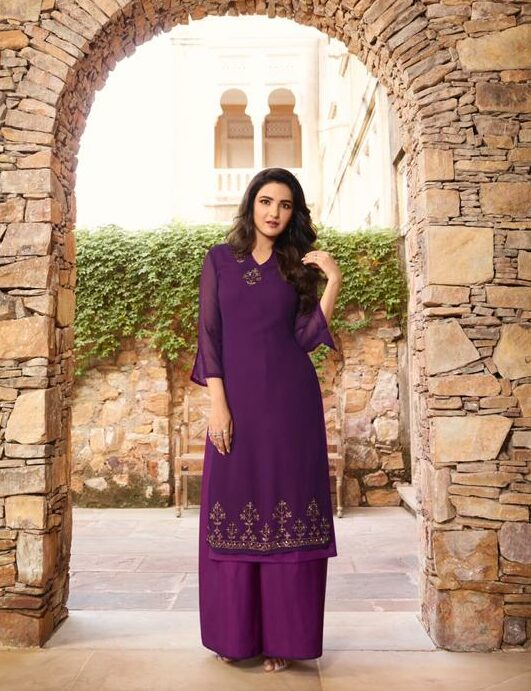 Purple Colour Palazzo Pants with Suits