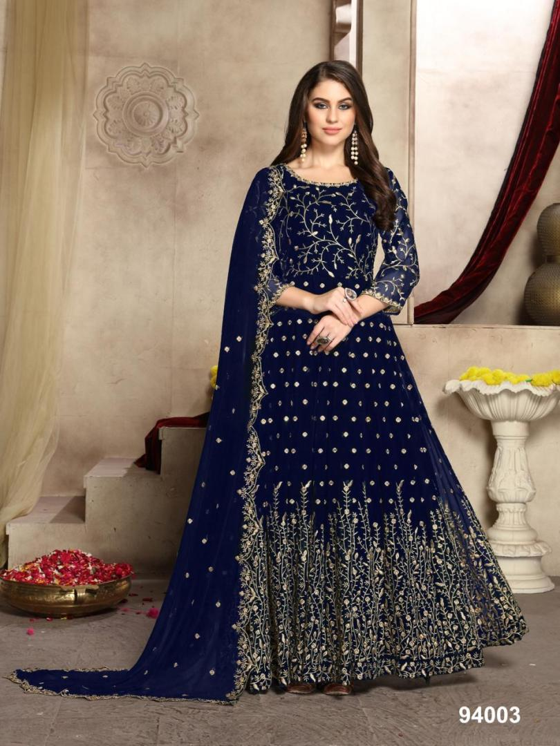 Royal Blue Gown for Engagement